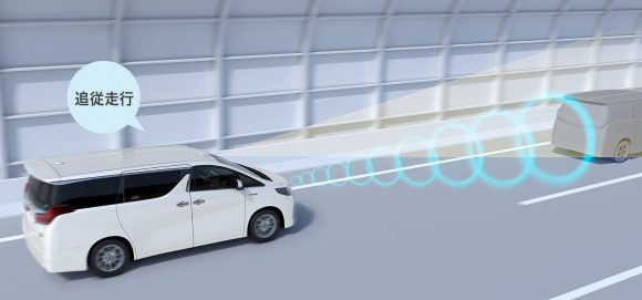 追従ドライブ支援機能:レーダークルーズコントロール(全車速追従機能付)