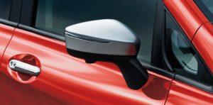 サイドターンランプ付電動格納式リモコンカラードドアミラー(メタル調フィニッシュ)