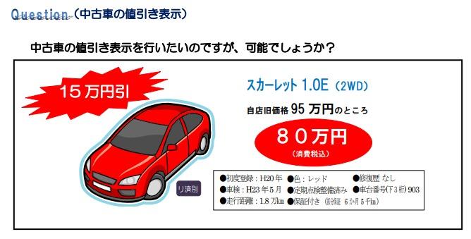 中古車の値引き表示について|自動車公正取引協議会